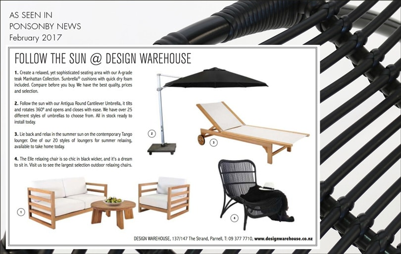 Design Warehouse Products in Ponsonby Magazine